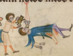 Detail from The Luttrell Psalter, British Library Add MS 42130 (medieval manuscript,1325-1340), f157v
