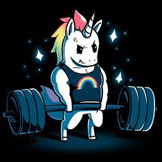 Gym Unicorn T-Shirt TeeTurtle