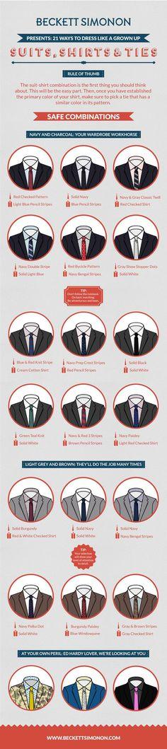 Cómo hacer coincidir trajes, camisas y corbatas como un profesional. - Beckett Simonon - Beckett Simonon