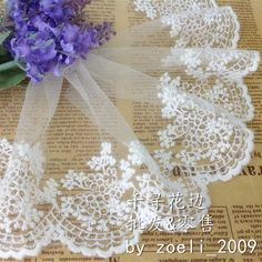 5 Yard/lot high quality diy handmade fabric clothes accessories lace trim decoration vintage 11cm wide(China (Mainland))