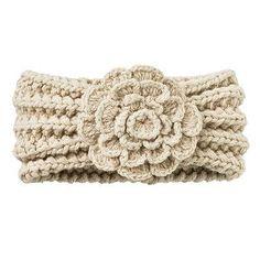 Crochet Headbands Crochet Ear Warmers with Flowers Knit Or Crochet, Crochet Scarves, Crochet Crafts, Yarn Crafts, Crochet Clothes, Crochet Baby, Crocheted Hats, Yarn Projects, Crochet Projects