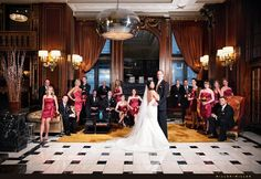 Glam bridal party at The Blackstone, A Renaissance Hotel- Downtown Chicago | Miller + Miller Wedding Photography