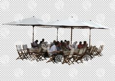 People in outdoor garden cafe cutout for 19.6.2016 by Gobotree