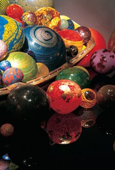 Chihuly hand-blown glass installation.