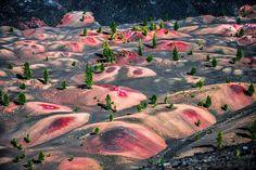 Painted Dunes, Lassen Volcanic National Park, Usa