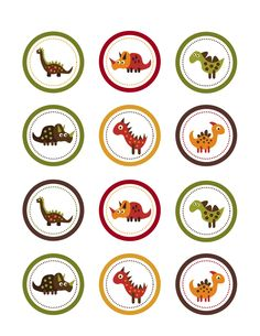 Dinosaur Cupcake Toppers - Sweet'n Treats | Cupcake Toppers | Non-Licensed