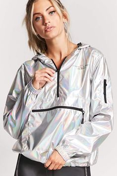 NASA Graphic Metallic Windbreaker | Products | Windbreaker, Mens windbreaker, Windbreaker jacket