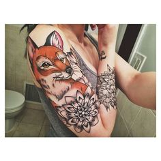 45 Fox Tattoos (Eye Catching Unique Designs) ❤ liked on Polyvore featuring accessories and body art
