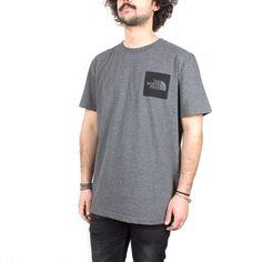 T-Shirt The North Face uomo Fine Tee Medium Grey Heater