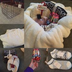Cozy Gift Basket Easy to Make Christmas Gifts for Mom DIY Christmas Gifts for Grandma Christmas Gifts For Grandma, Diy Gifts For Mom, Christmas Gift Baskets, Christmas Gifts For Mom, Grandma Gifts, Homemade Gifts, Cute Gifts, Holiday Gifts, Cozy Christmas