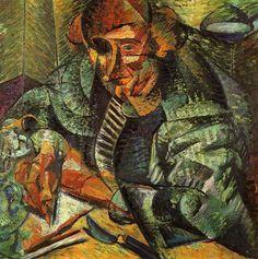"""Umberto Boccioni (1882 - 1916), """"L'antigrazioso"""", 1912."""