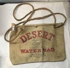 $20, Vintage Auto Radiator Desert Water Bag Canvas Los Angeles. Calif.