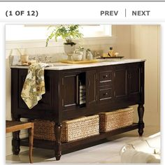 Our vanity we'll get when we redo our master bath. Potterybarn.com