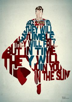 Superman film quote art print - 'Join You In The Sun' typography movie poster inspired by Man of Steel by and Oak Superman Art, Superman Man Of Steel, Superman Quotes, Superman Poster, Superman Movies, Typography Prints, Typography Poster, Typography Quotes, Hand Lettering
