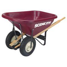 Scenic Road Dual Wheel 8 Cube Wheelbarrow - 800 lb Capacity
