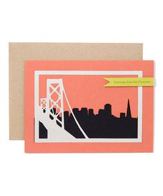 Take a look at this Orange San Francisco Bay Bridge - Set of Three by BonBon Paper on #zulily today! $12 !!