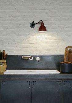 KitchenWalls Wallpaper Splashback-Painted White Bricks (Standard bricks)