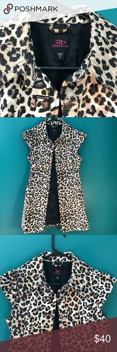 Bebe 2B Jacket XS Bebe Jacket 5 buttons Excellent condition 100% polyester Would look great with black leggings and heels 2B Bebe Jackets & Coats