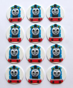 Fondant Cupcake Toppers - Thomas the Tank Engine. $19.98, via Etsy.