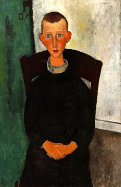The Son of the Concierge, 1918, Modigliani