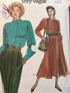 Vogue 8496 Misses/'//Miss Petite Shirt 18 to 24   Sewing Pattern