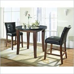 Steve Silver Granite Bello 3pc Round Counter Dining Set in Cherry *** Check out this great product.(It is Amazon affiliate link) #Kitchengoods
