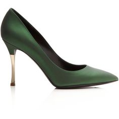 Nicholas Kirkwood Dark Green Metallic Platino Metal Heel