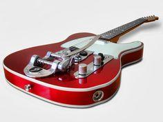 ... a cherry red 50's Telecaster with Bigsby http://www.sfbayhomes.com #sfbayhomes.com