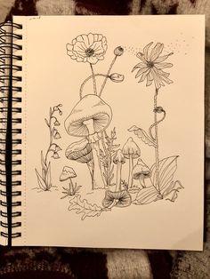 Pencil Art Drawings, Art Drawings Sketches, Illustration Art, Illustrations, Arte Sketchbook, Art Diary, Hippie Art, Arte Pop, Psychedelic Art