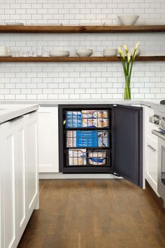 This under-counter freezer is the first built-in frost-free freezer to seamlessly integrate with base cabinets, the Modular 3000 sits flush and comes with a stainless-steel or panel-ready door. Its hinges can be concealed and its height is adjustable, adding to the built-in look. It's also available in different widths, making it apt for islands.   U-Line for retailers