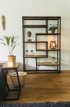 What Is Art Deco Furniture and Interior Design? Welded Furniture, Modern Wood Furniture, Home Furniture, Furniture Design, Home Living Room, Living Room Decor, Steel Bookshelf, Metal Bookcase, Muebles Living