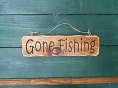 Gone Fishing sign, carved wood sign, rustic - pinned by pin4etsy.com