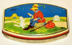English Riley Dick Whitington and Cat Toffee Candy Tin 1930s | eBay