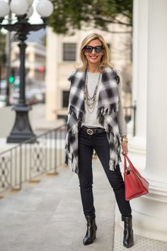 ITS THE LAST WEEKEND OF OUR SALE! - Stop by and check out my new blog story featuring our Gray/Black Leopard Poncho and Plaid Vest with Fringe, both part of our sale www.jacketsociety.com . 25% off on orders over $150 with code HOL25 15% off on orders up to $150 with code HOL15 . Plus Free US Shipping