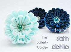 Photo tutorial: satin dahlia - handmade fabric flower