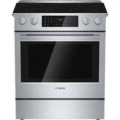 Shop Bosch 800 Series Standard Self-Cleaning Convection Single Oven Dual Fuel Range (Stainless Steel) at Lowe's Canada online store. Find Single Oven Dual Fuel Ranges at lowest price guarantee. New Jersey, Ranger, Cleaning Oven Racks, Slide In Range, Convection Cooking, Microwave Convection, Large Oven, Single Oven, Shops