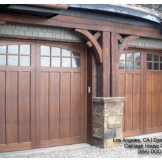 Classic & Traditional Custom Wood Carriage House Style Garage Doors - traditional - garage and shed - los angeles - Dynamic Garage Door Craftsman Exterior, Craftsman Style Homes, Craftsman Bungalows, Craftsman Decor, Craftsman Garage Door, Garage Exterior, Garage Entry, Barn Garage, Exterior Paint