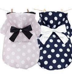Designer Pet Hoodie Romantic Snow Designer Coat Louis Dog Lavender or Navy Blue...SOOO CUTE!!!