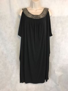 Valerie Bertinelli Black Beaded Sheath Sleeveless Dress Size 14 | Clothing, Shoes & Accessories, Women's Clothing, Dresses | eBay!