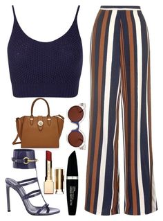 A fashion look from May 2016 featuring Miss Selfridge tops, Topshop pants and Gucci sandals. Browse and shop related looks. Mode Outfits, Fashion Outfits, Womens Fashion, Fashion Trends, Ladies Fashion, Classy Outfits, Stylish Outfits, Vetement Fashion, Mode Chic