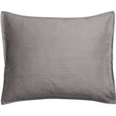 H&M Linen pillowcase (665 INR) ❤ liked on Polyvore featuring home, bed & bath, bedding, bed sheets, dark grey, charcoal grey bedding, charcoal gray bedding, dark gray bedding, linen bedding and dark grey bedding