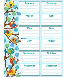 Never forget a student's birthday with this cheery, contemporary Boho Birds Birthday chartlet! Easy to read and personalize, this chartlet is a perfect addition to any classroom. Includes one chart me