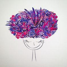 {Cuando sacas de tu mente todo lo que te molesta y llenas ese espacio con solo cosas lindas} #flowers #purplehair #purple #fuchsia #lilac #flores #morado #fucsia #lila #pink #rosado #mindfulness #happy #happymind #peace #pazmental #feliz #felicidad #happiness #tranquilidad #smile #sonrisa