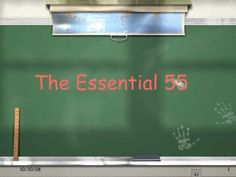 Ron Clarke's Essential 55 Rules  via Slideshare (beginning of year expectations)