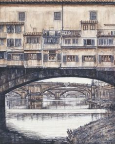 Love this print of the bridges of Florence.