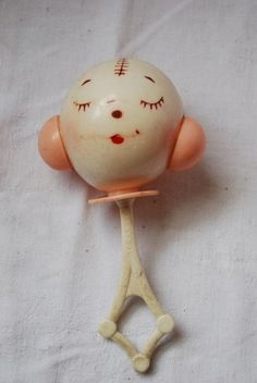 Vintage Baby Rattle Toy 1940's,  Go To www.likegossip.com to get more Gossip News!