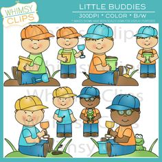 Little buddies clip art pack. Premium high resolution clip art.