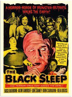 AP1329 - Black Sleep, Exploitation Horror Movie Poster, 1950s (30x40cm Art Print)