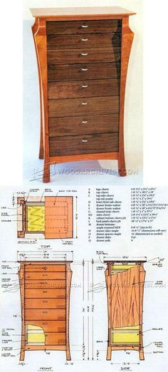 A Graceful Chest of Drawers Plans - Furniture Plans and Projects | WoodArchivist.com