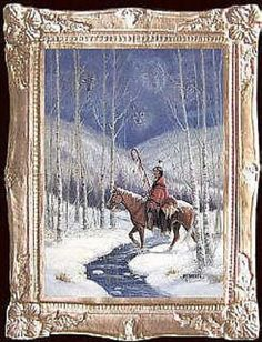 SPIRIT WOLVES  Dollhouse Picture - FRAMED Miniature Art - MADE IN AMERICA #DollhouseCottage